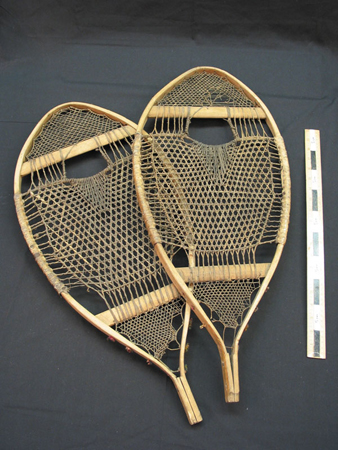 Photo of model snowshoes in Newfoundland and Labrador Provincial Museum collection.